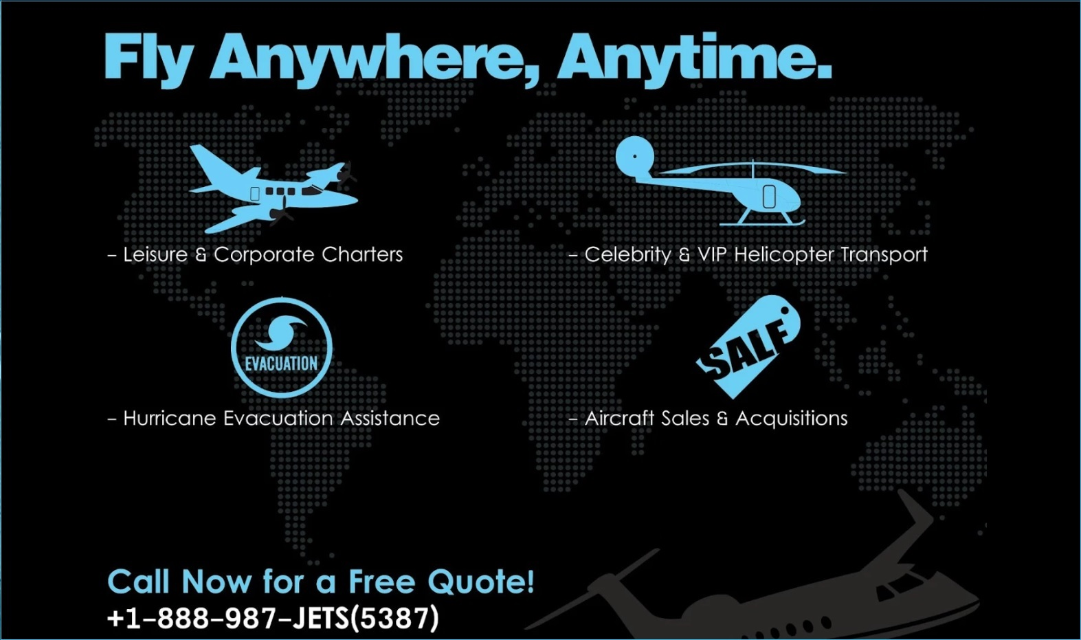 Charter Services, private jet, fly anytime, on demand,
