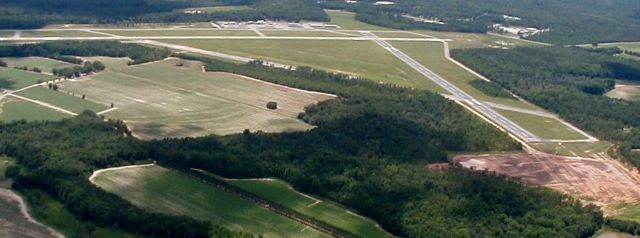 Aerial view of Statesboro-Bulloch County Airport