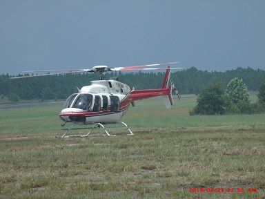 Forestry Helicopter landing at Statesboro Airport