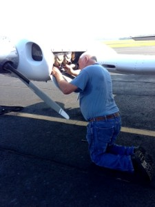 Bill Long performing Aircraft Maintenance at The Statesboro Bulloch County Airport