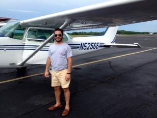 Jordan Senecal soloed at Statesboro Bulloch County Airport