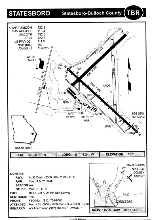 Statesboro-Bulloch County Airport Information