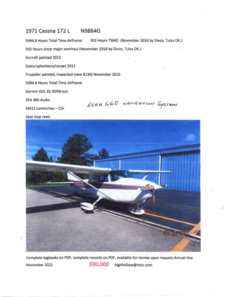 Cessna 172 for sale, aircraft,